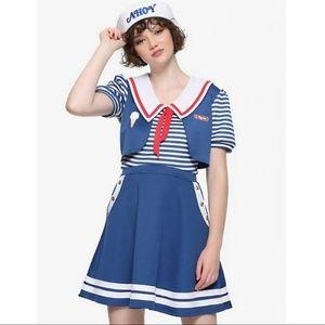 Robin Scoops Ahoy Dress Sz L NWT